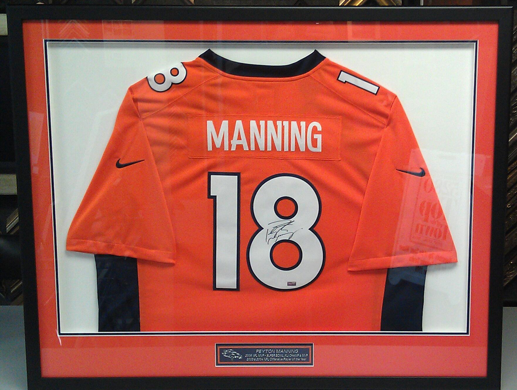 custom framed peyton manning denver broncos jerseys