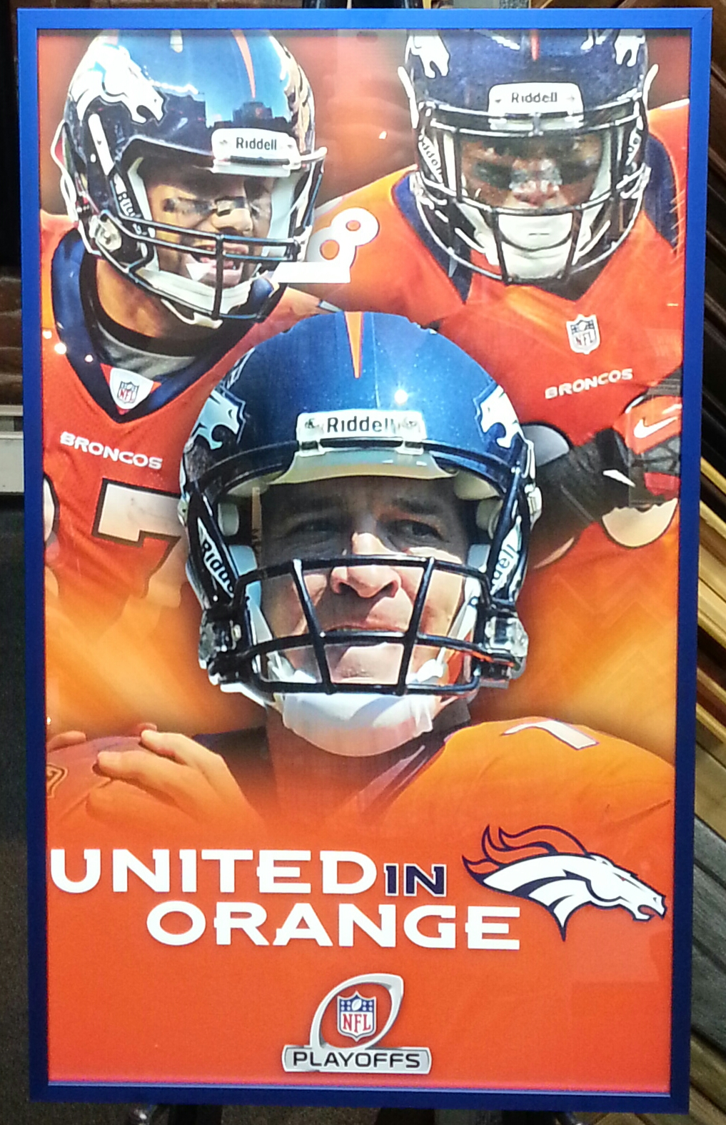 Denver Broncos Picture Frame - United In Orange | FastFrame of LoDo ...