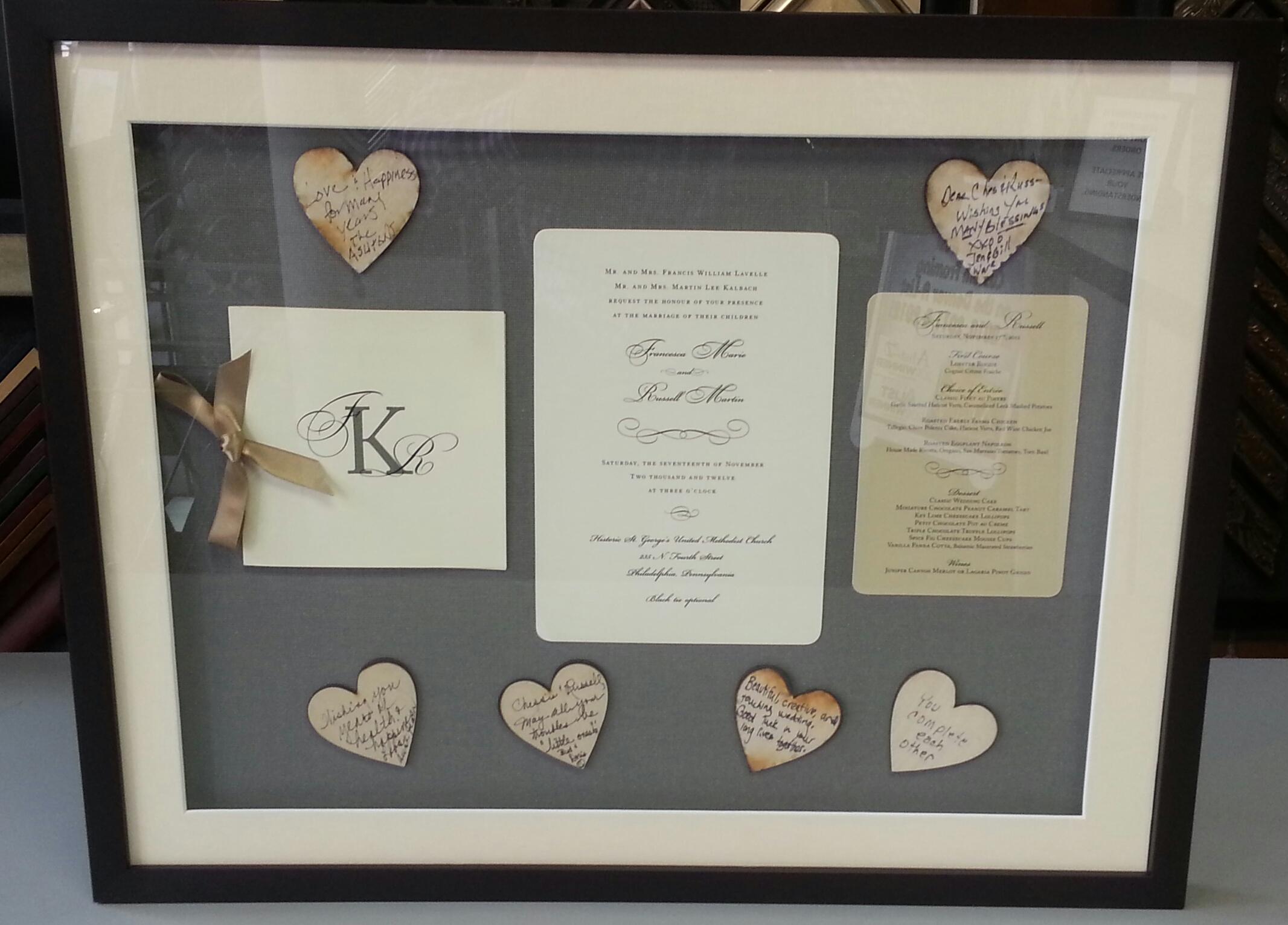 Custom Framed Wedding Invitation   FastFrame of LoDo - Expert ...
