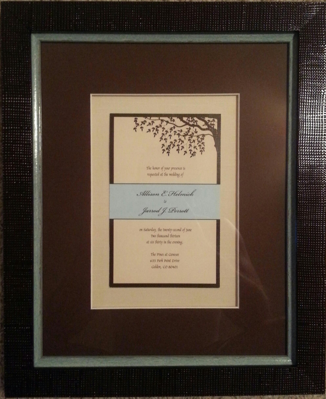 Custom Framed Wedding Invitations Denver   FastFrame of LoDo ...