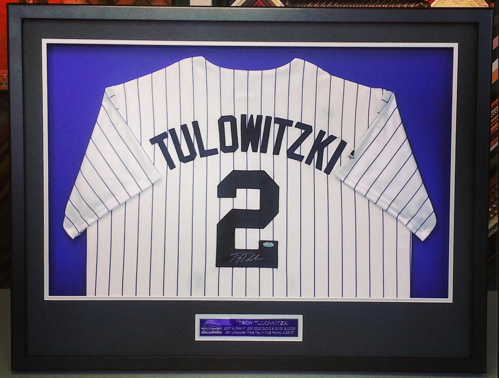 colorado rockies troy tulowitzki custom framed jersey denver