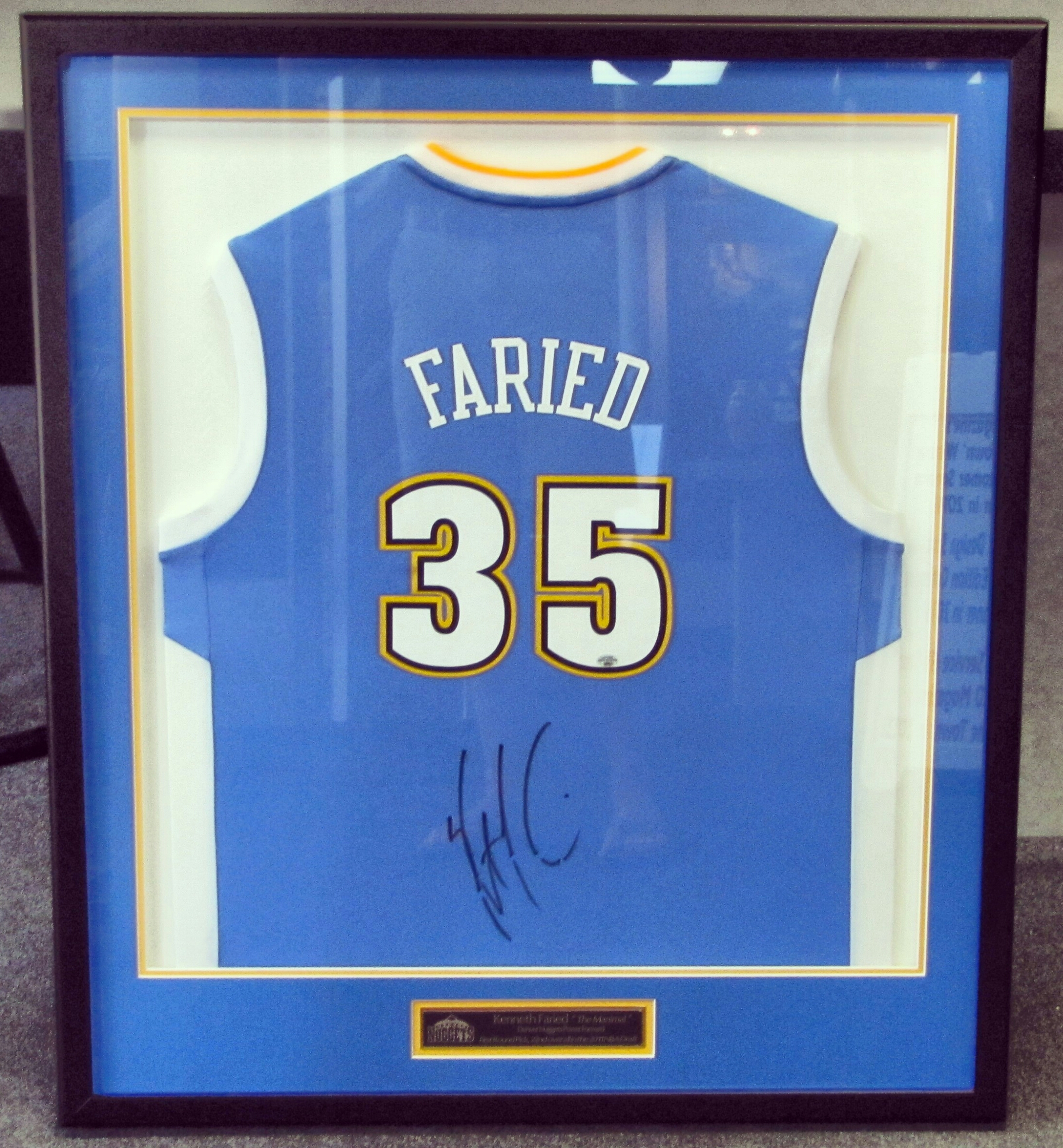 Jersey framing denver nuggets kenneth faried jersey fastframe jersey framing denver nuggets kenneth faried jersey jeuxipadfo Gallery