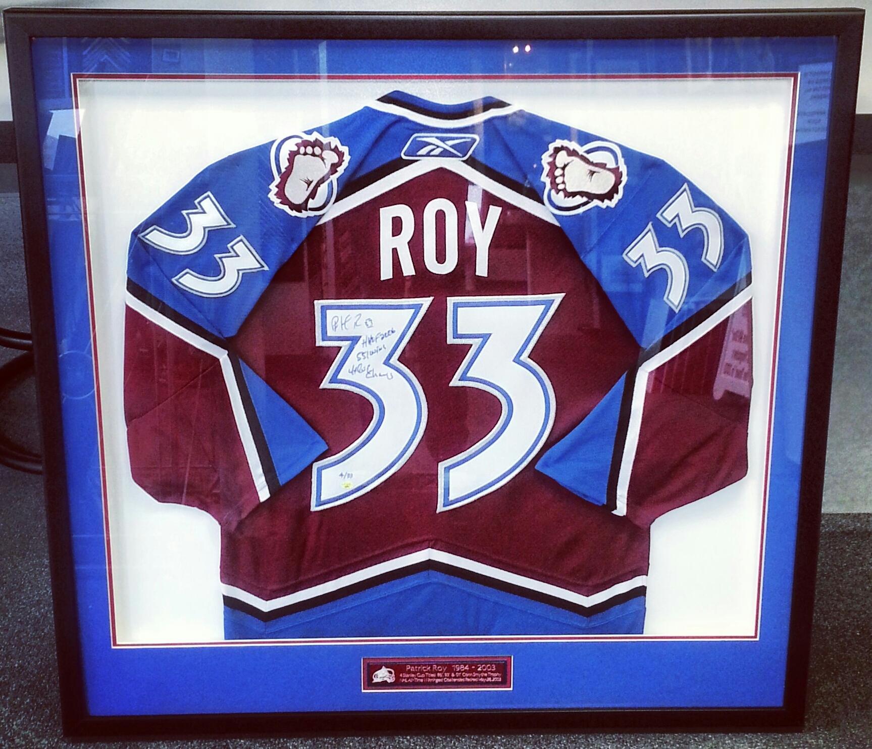 img_20130911_094505 1 custom framed patrick roy authentic colorado avalanche hockey jersey