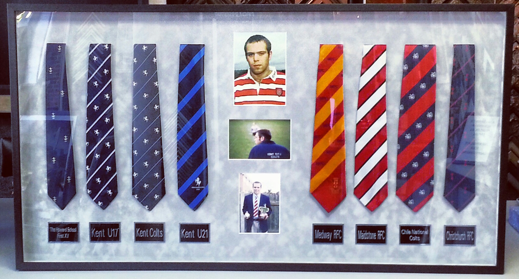 Shadowbox Framing Denver - Rugby Ties | FastFrame of LoDo - Expert ...