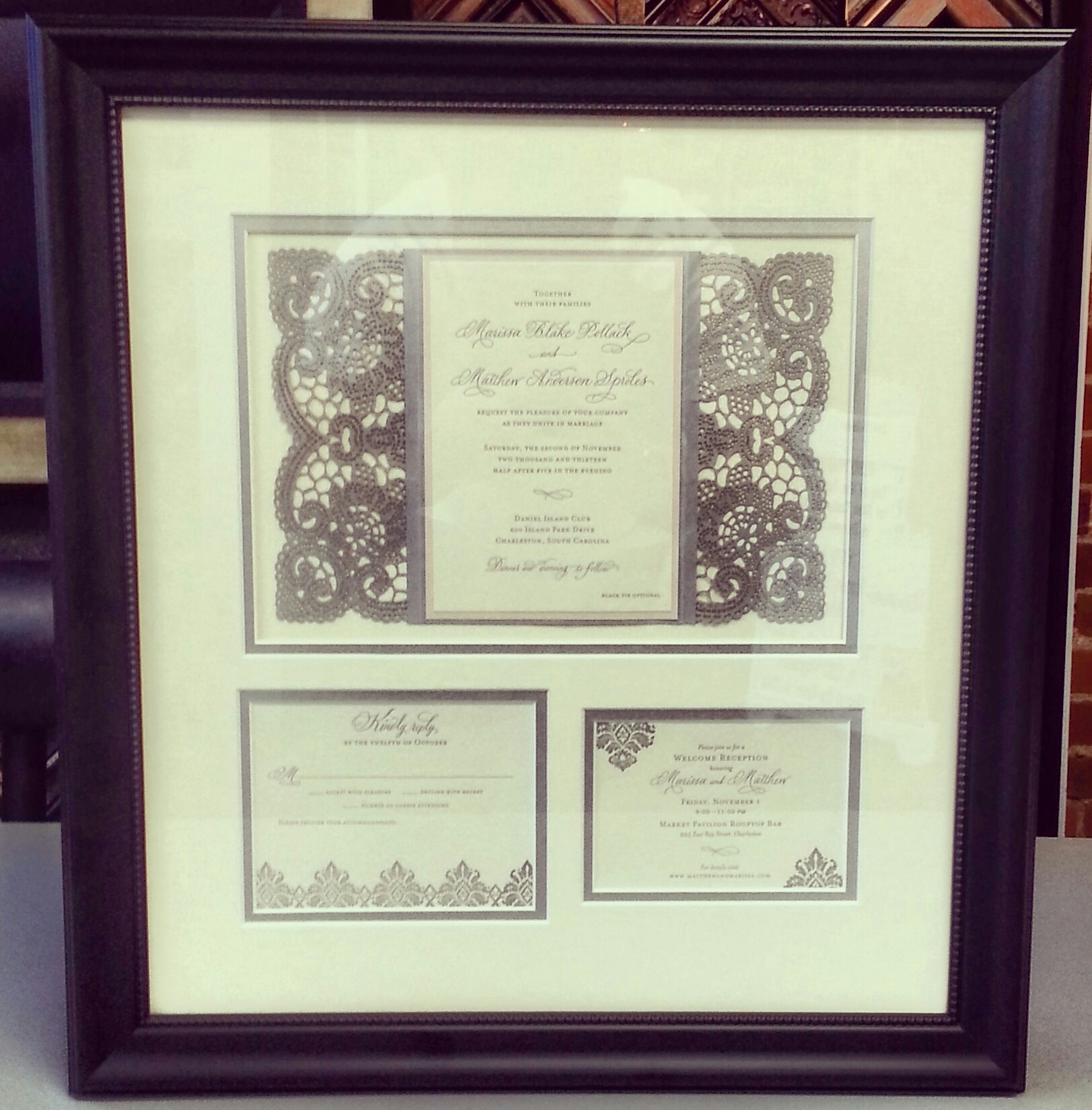 Wedding Invitation Gifts Ideas: Custom Framed Gifts Denver