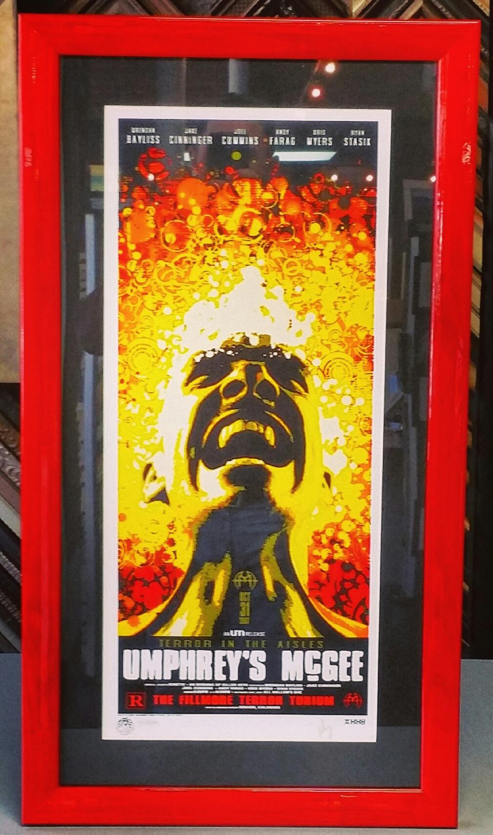 custom concert poster framing denver
