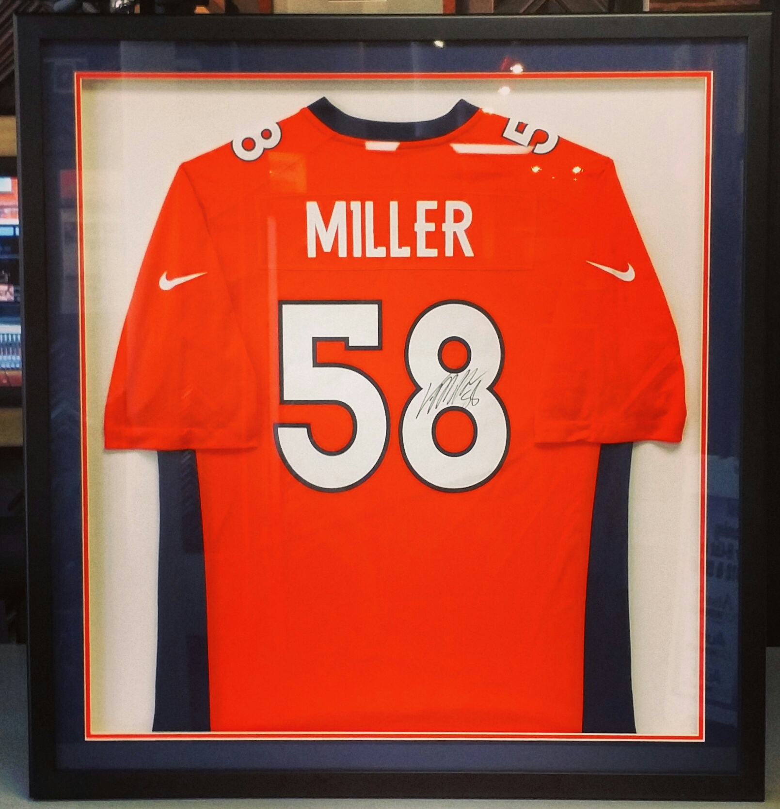 football jersey shadowbox frame denver