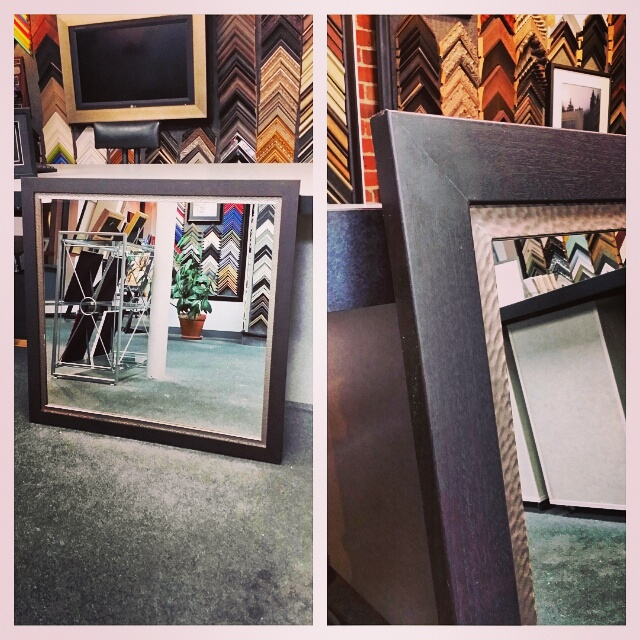 Custom Framed Mirrors With Stacked Frames Denver | FastFrame of LoDo ...
