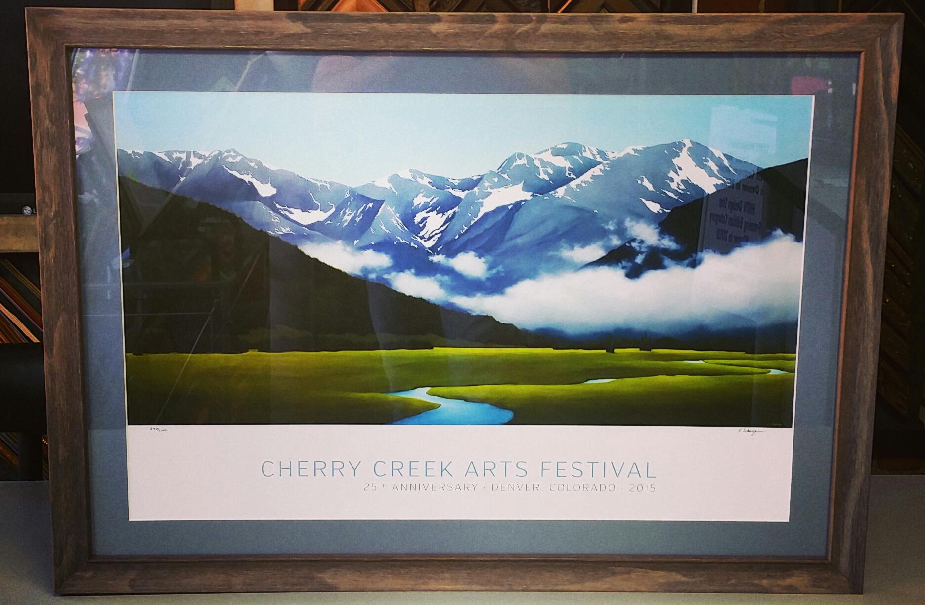 Cherry Creek Arts Festival Framed Poster   FastFrame of LoDo ...