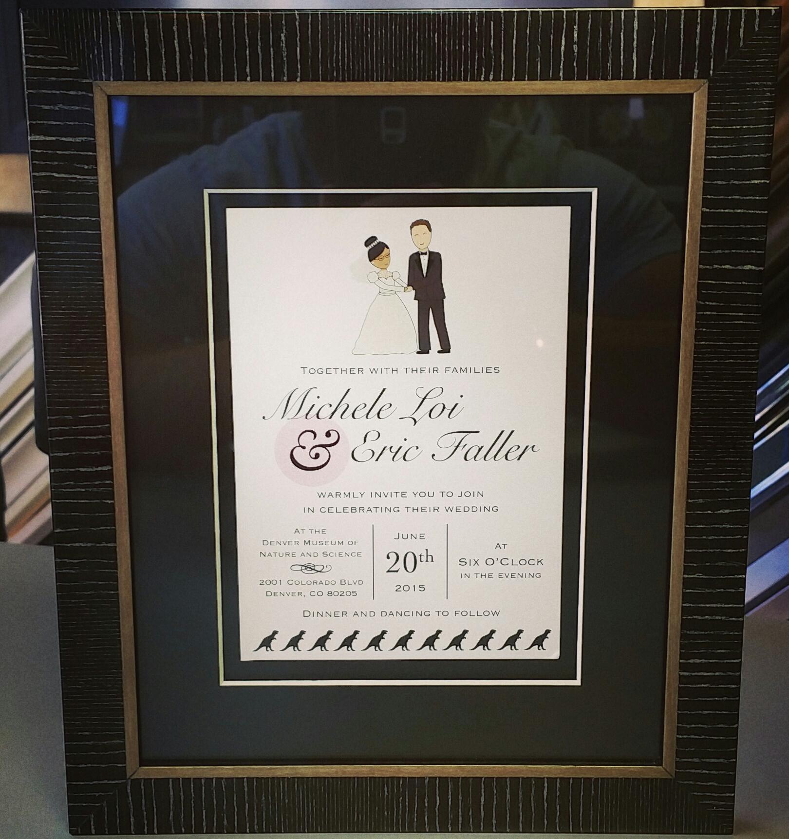 Wedding Invitation Framing Denver