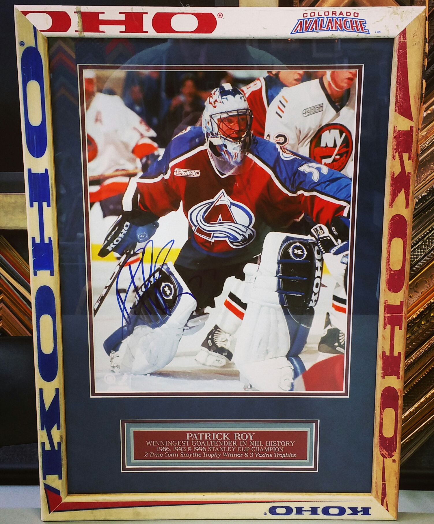 Hockey Stick Frame   FastFrame of LoDo - Expert Picture Framing
