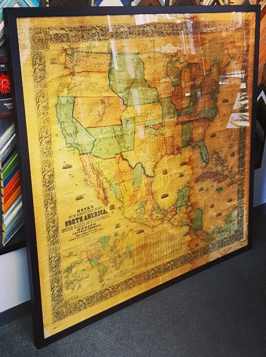 Custom Map Picture Framing Denver
