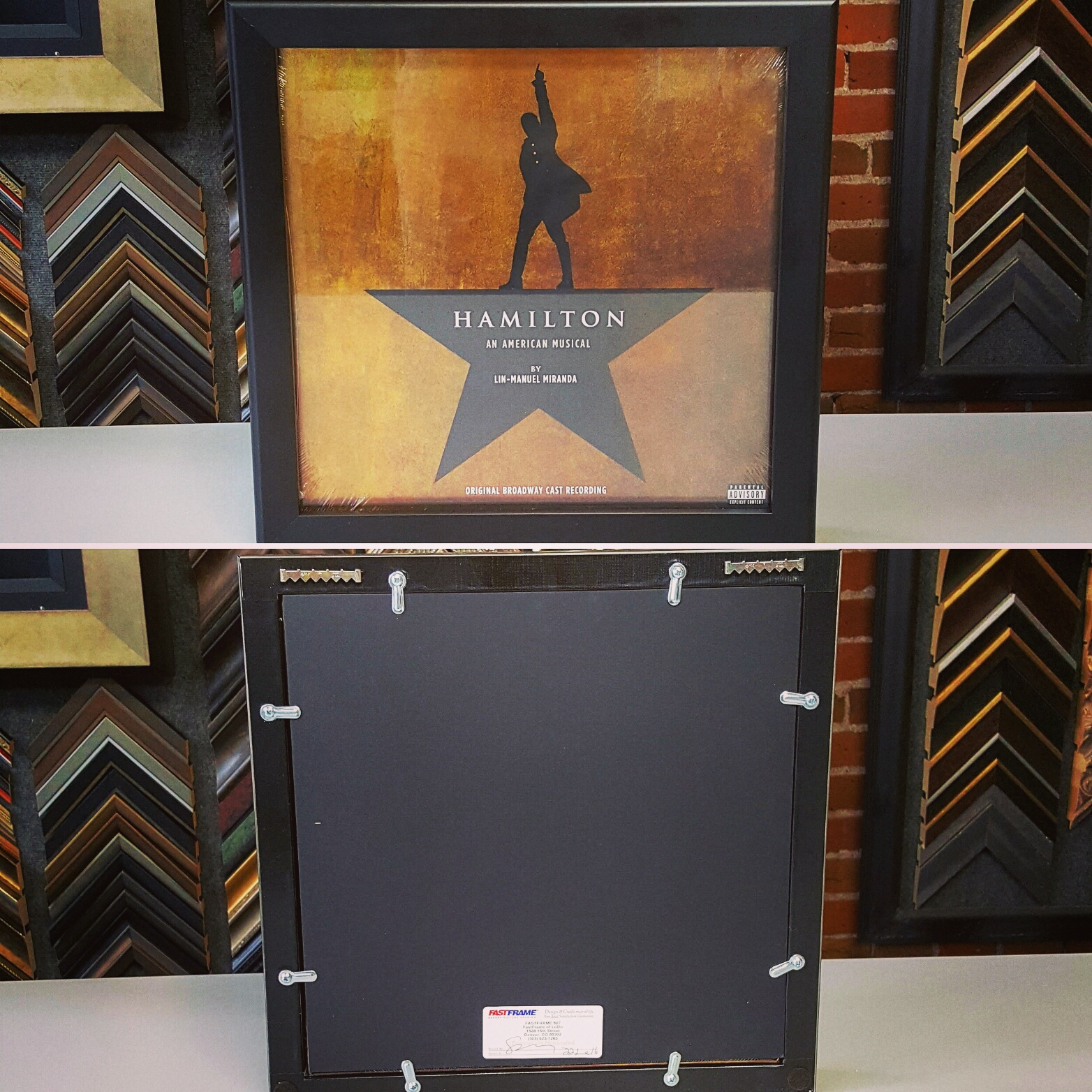 Custom Framed Albums & LPs Denver