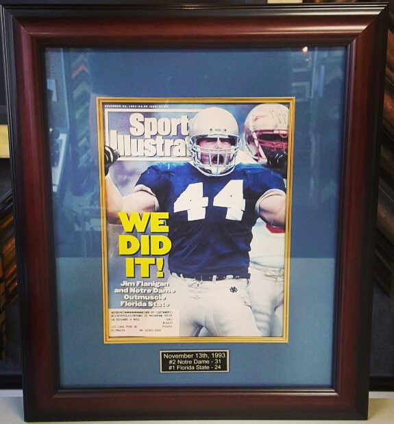 Sports Item Picture Framing Denver