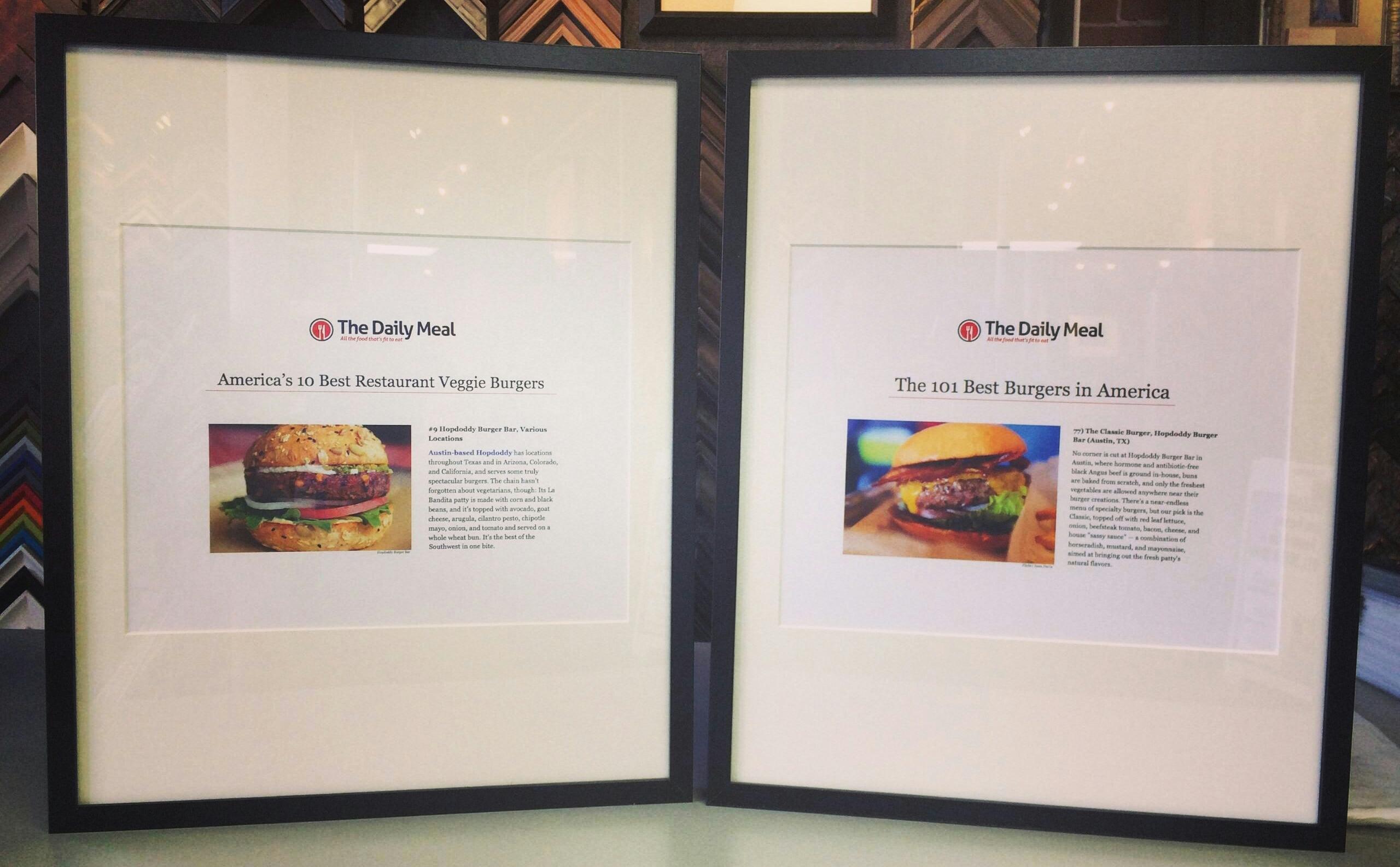 We Frame for Hopdoddy Burger Bar!