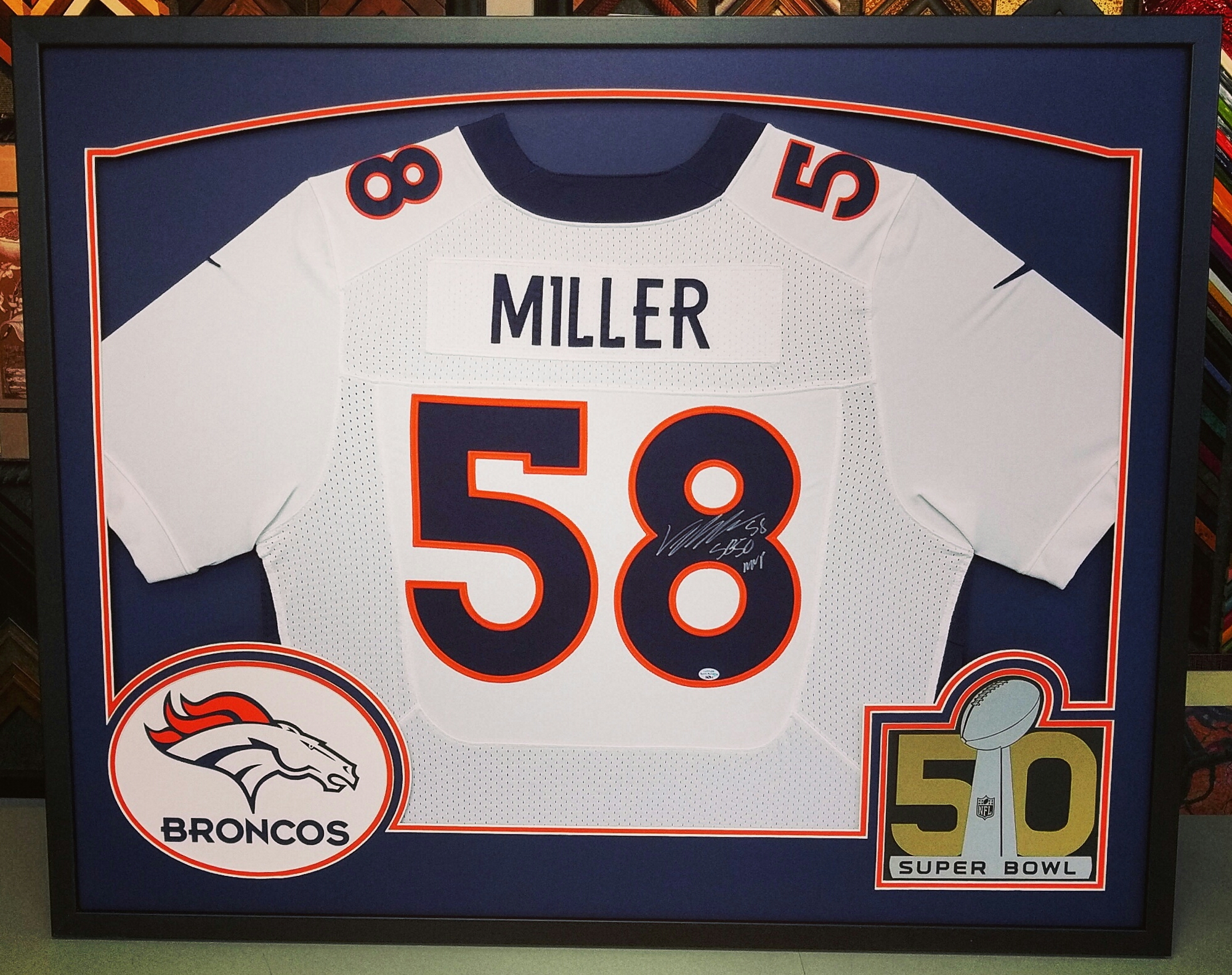 Sports Jersey Framing Denver Broncos | FastFrame of LoDo - Expert ...