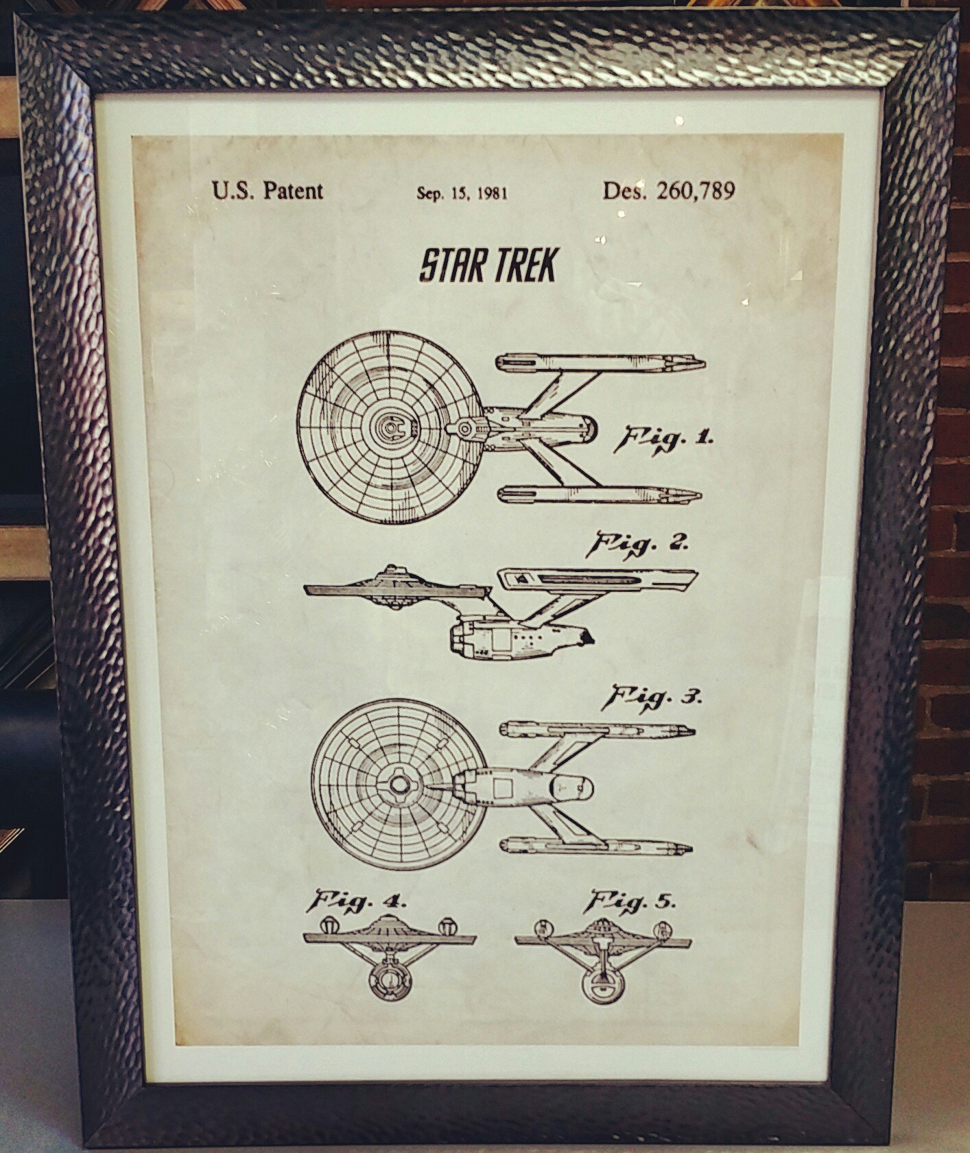 Custom Framed Star Trek Artwork Denver