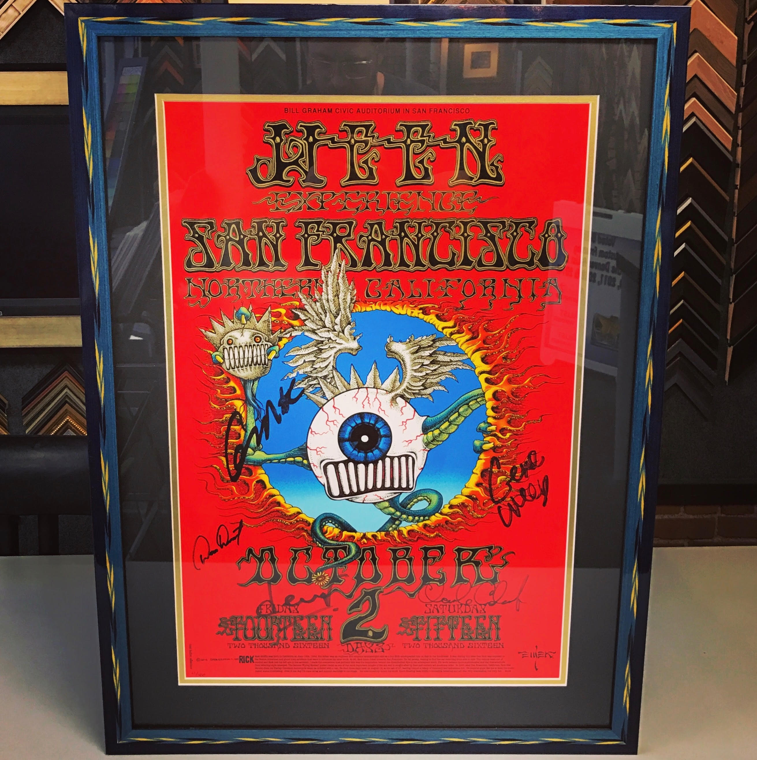 Custom Framed Concert Posters Denver