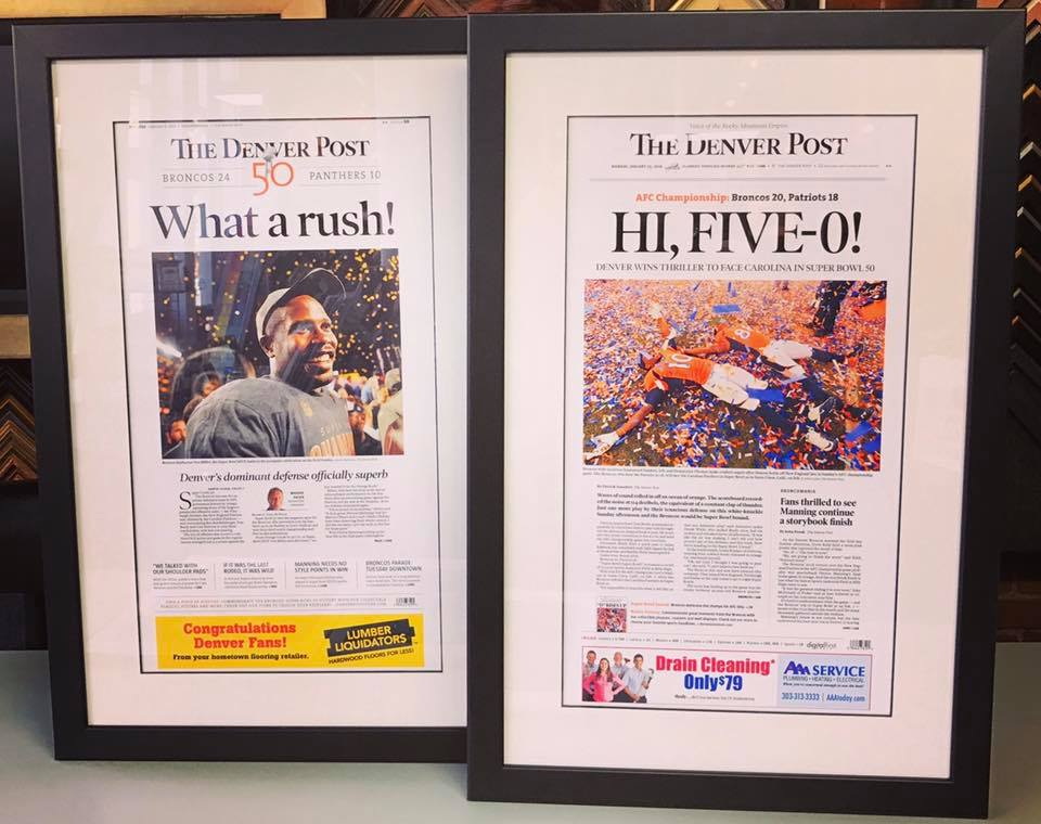 Custom Framed Newspapers Denver