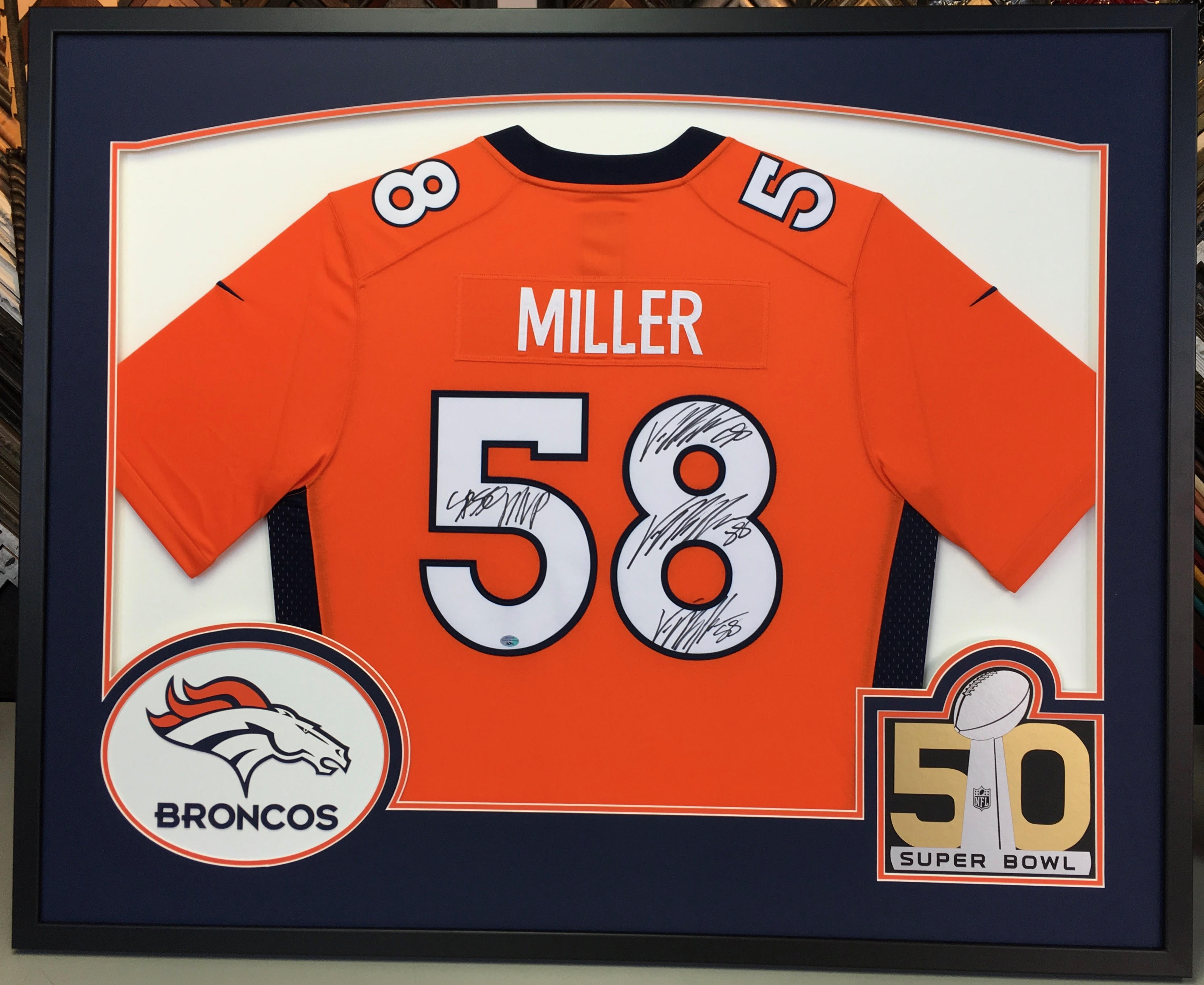 Sports Jersey Picture Framing Denver