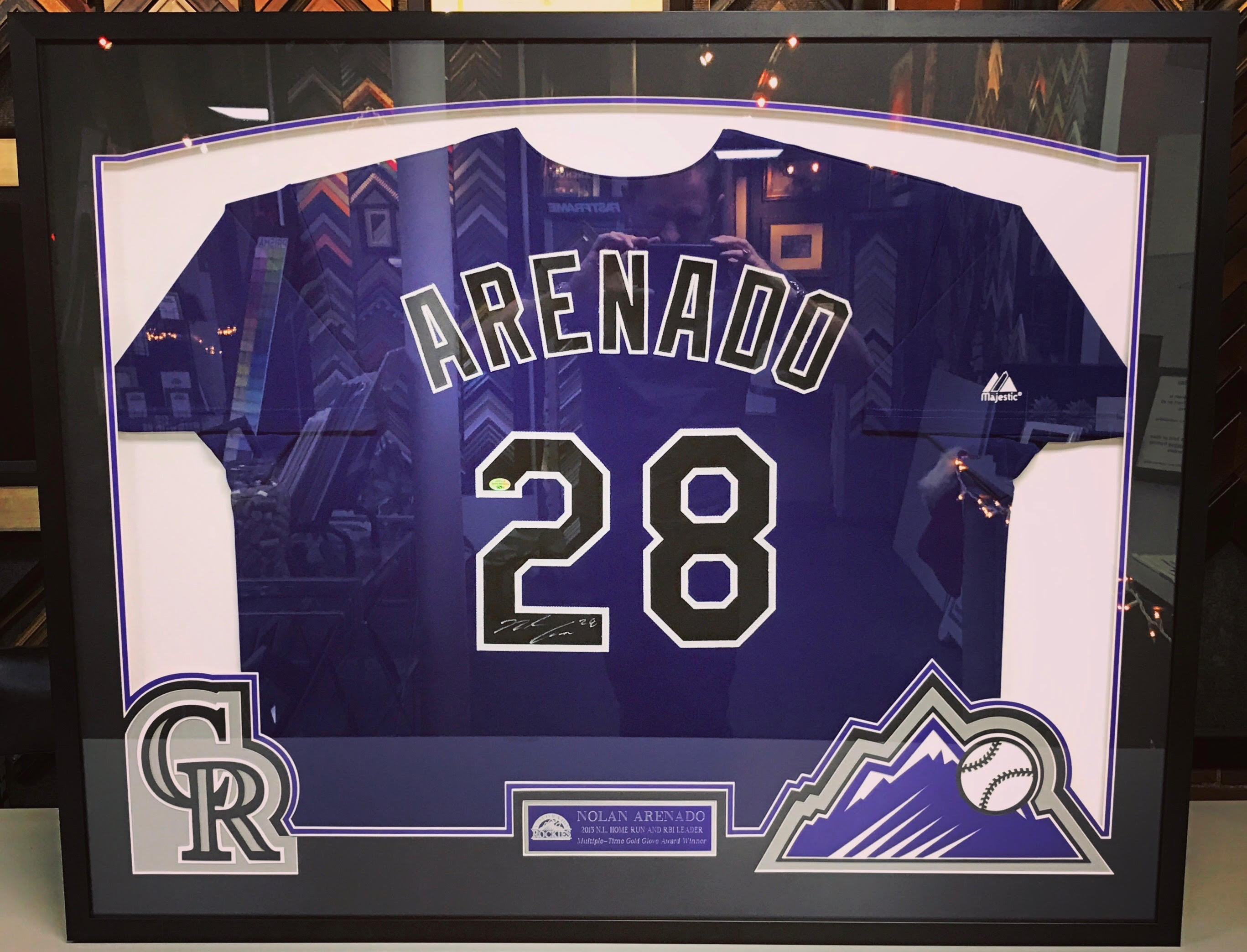 Custom Framed Sports Memorabilia Denver