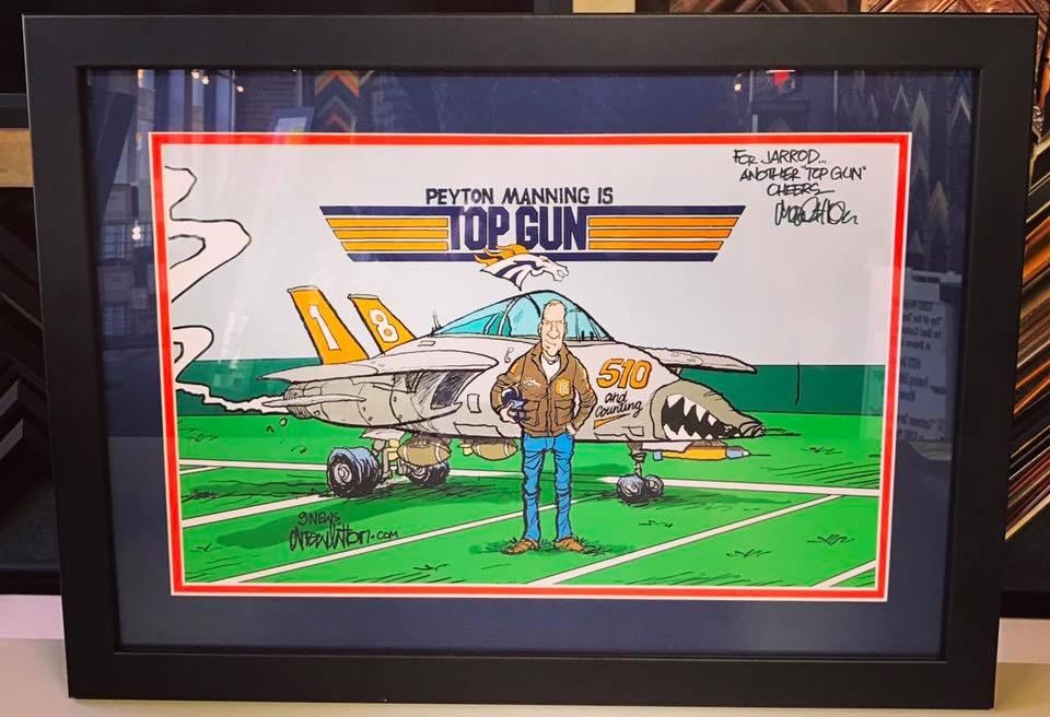 Peyton Manning Top Gun by Drew Litton