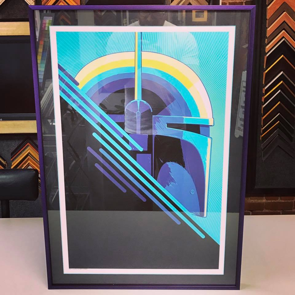 Custom Framed Boba Fett by Craig Drake
