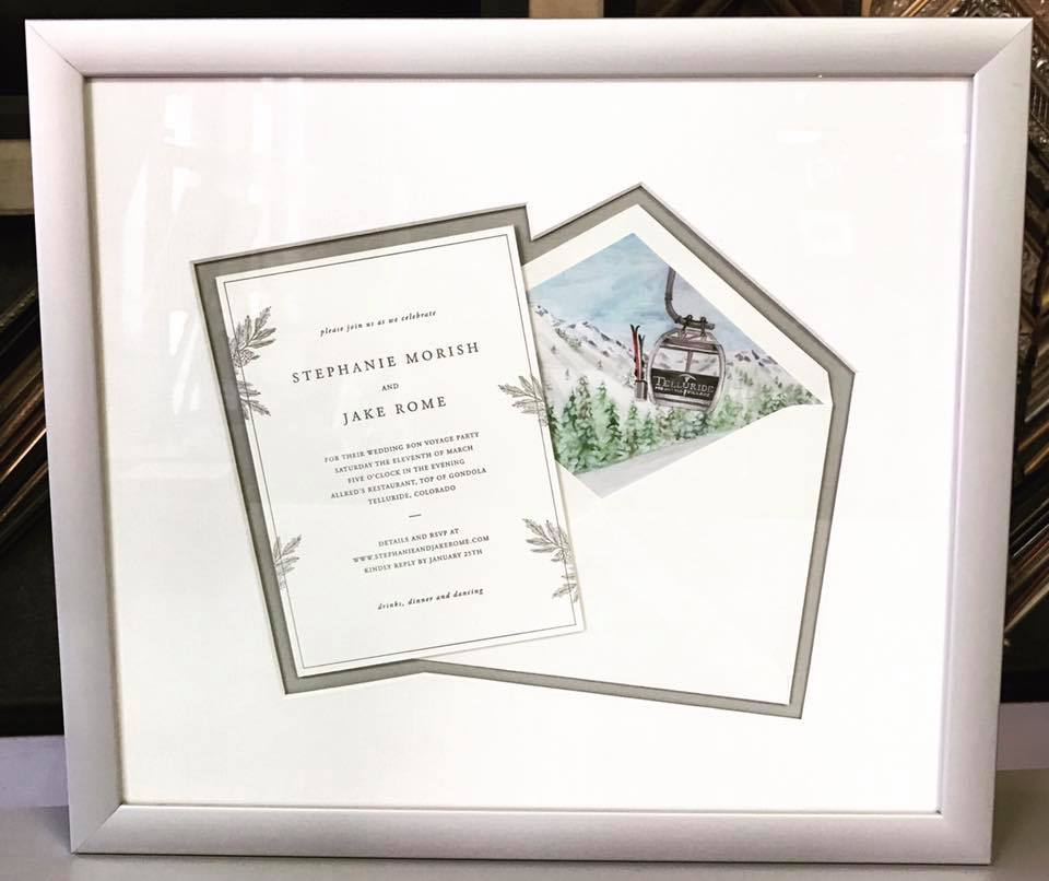 Wedding Invitation Picture Framing Denver
