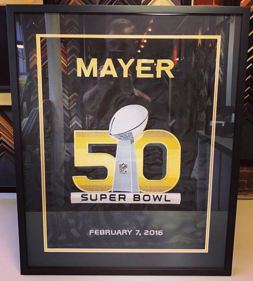 Denver Broncos Picture Framing