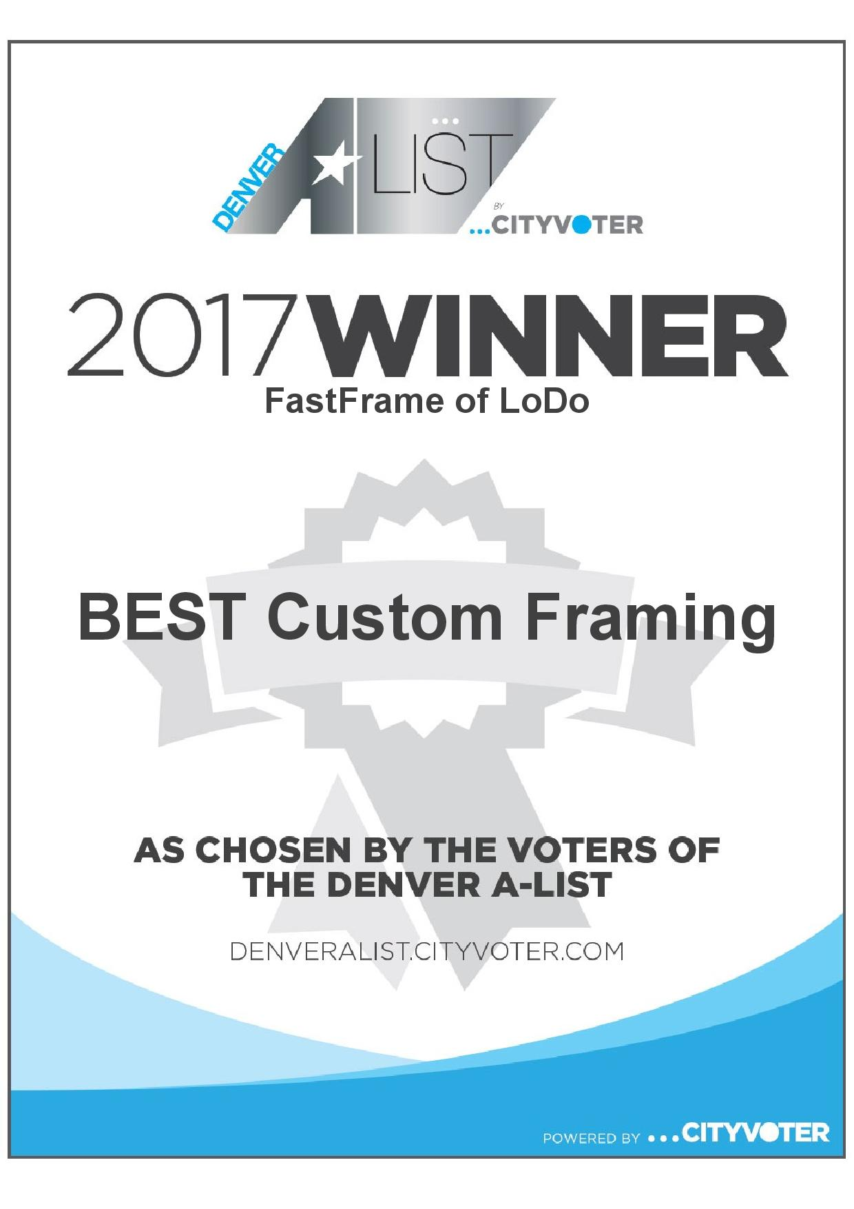 FastFrame of LoDo - Voted Best Custom Framing in Denver!