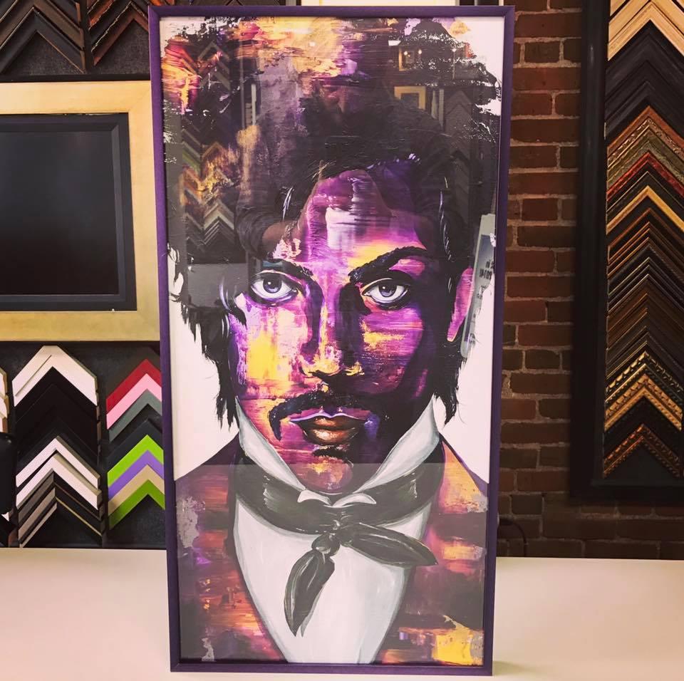 Custom Framed Prince Art Denver