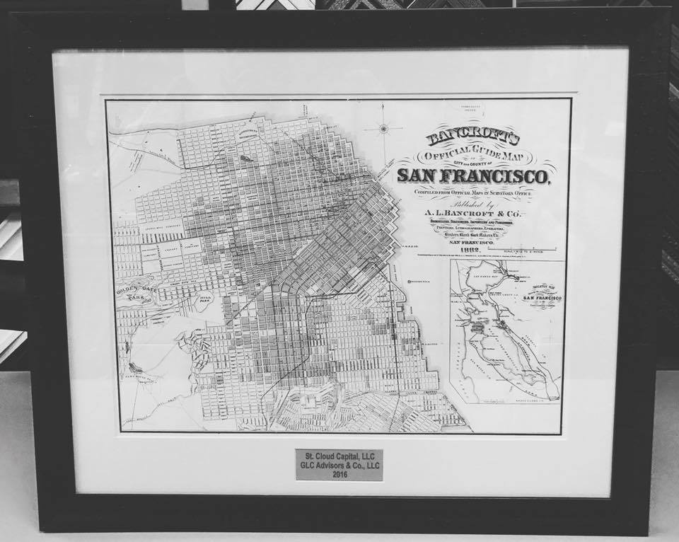 Custom Map Picture Frames Denver