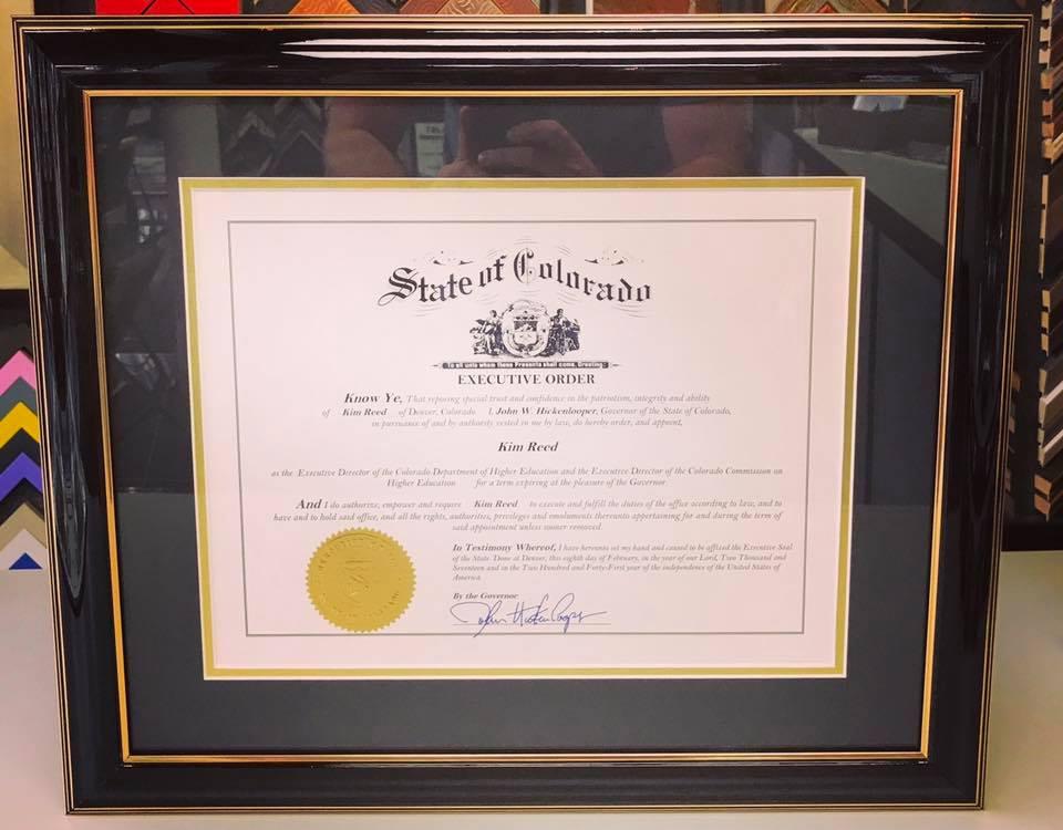 diploma fastframe of lodo expert picture framing certificate diploma framing denver