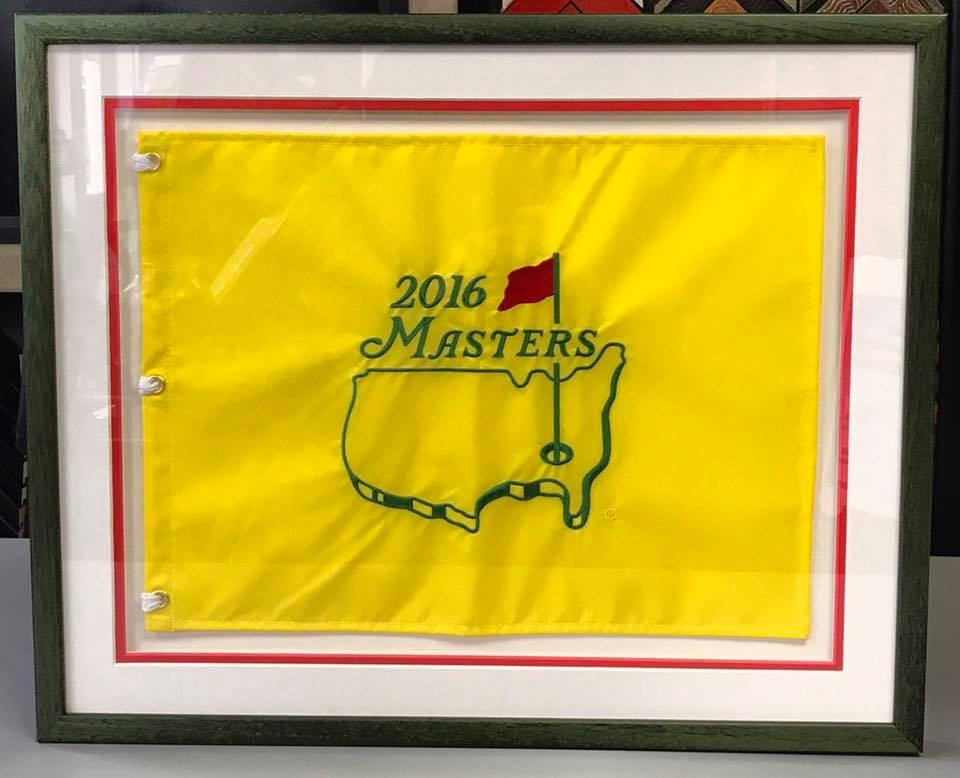 Custom Framed The Masters Flag Denver