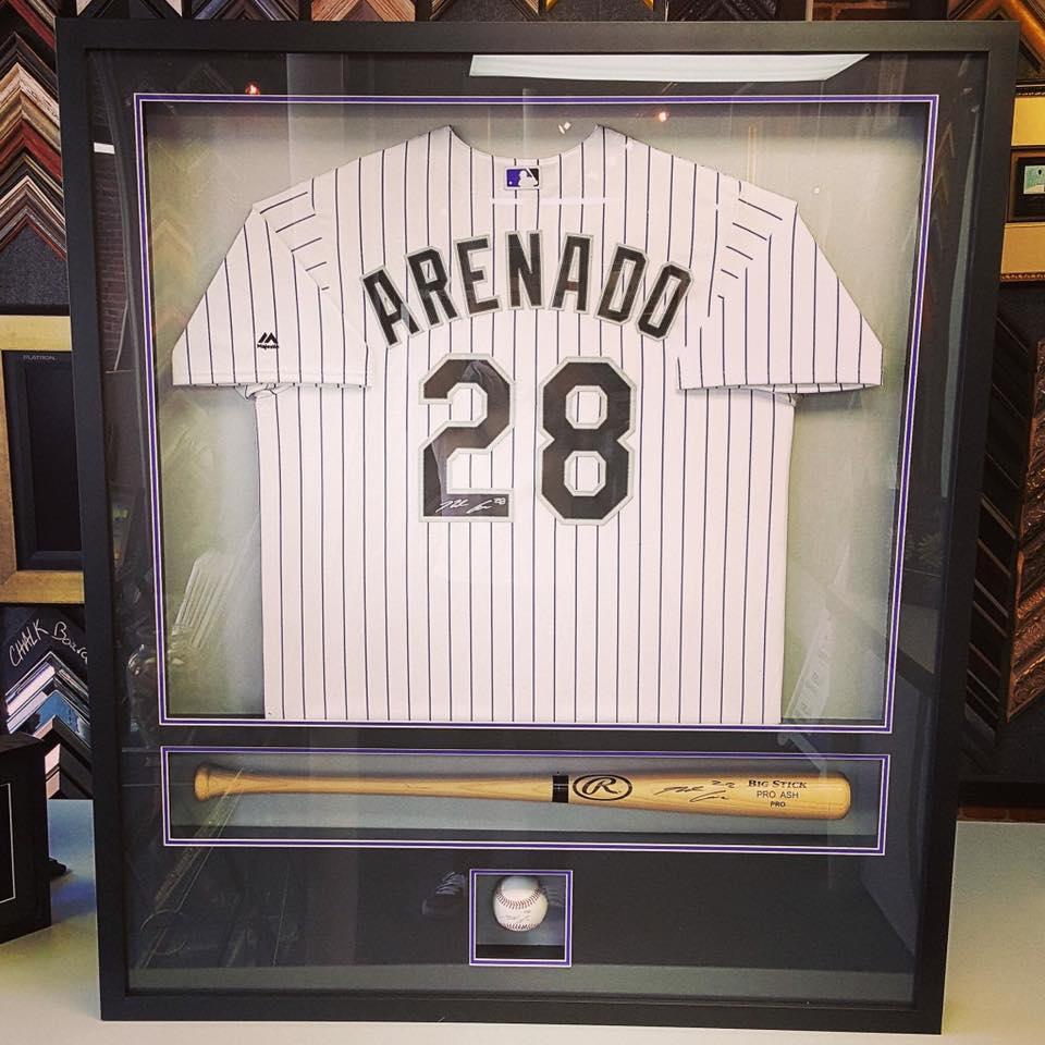 Sports Jersey Framing Displays Denver Autographs