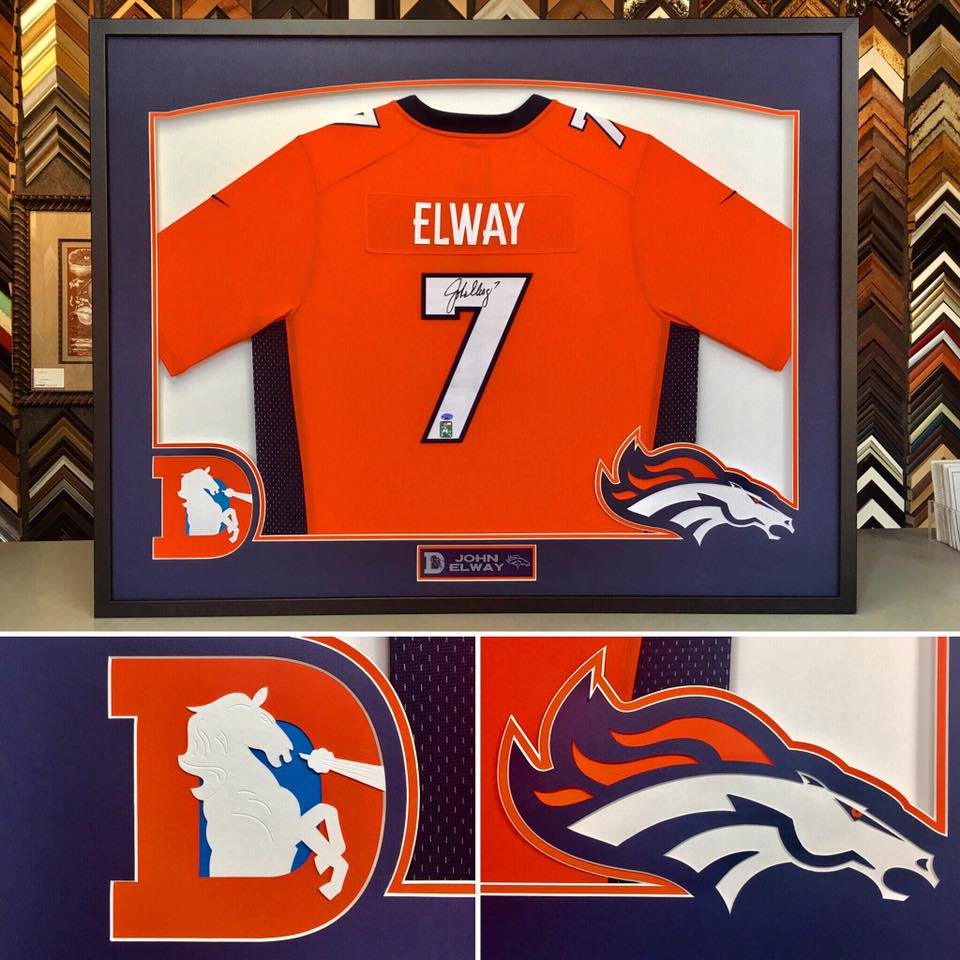 Sports Jersey Framing Denver
