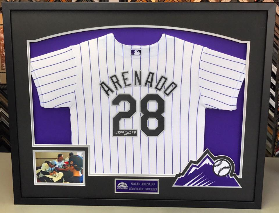 Sports Jersey Framing Denver Autographs