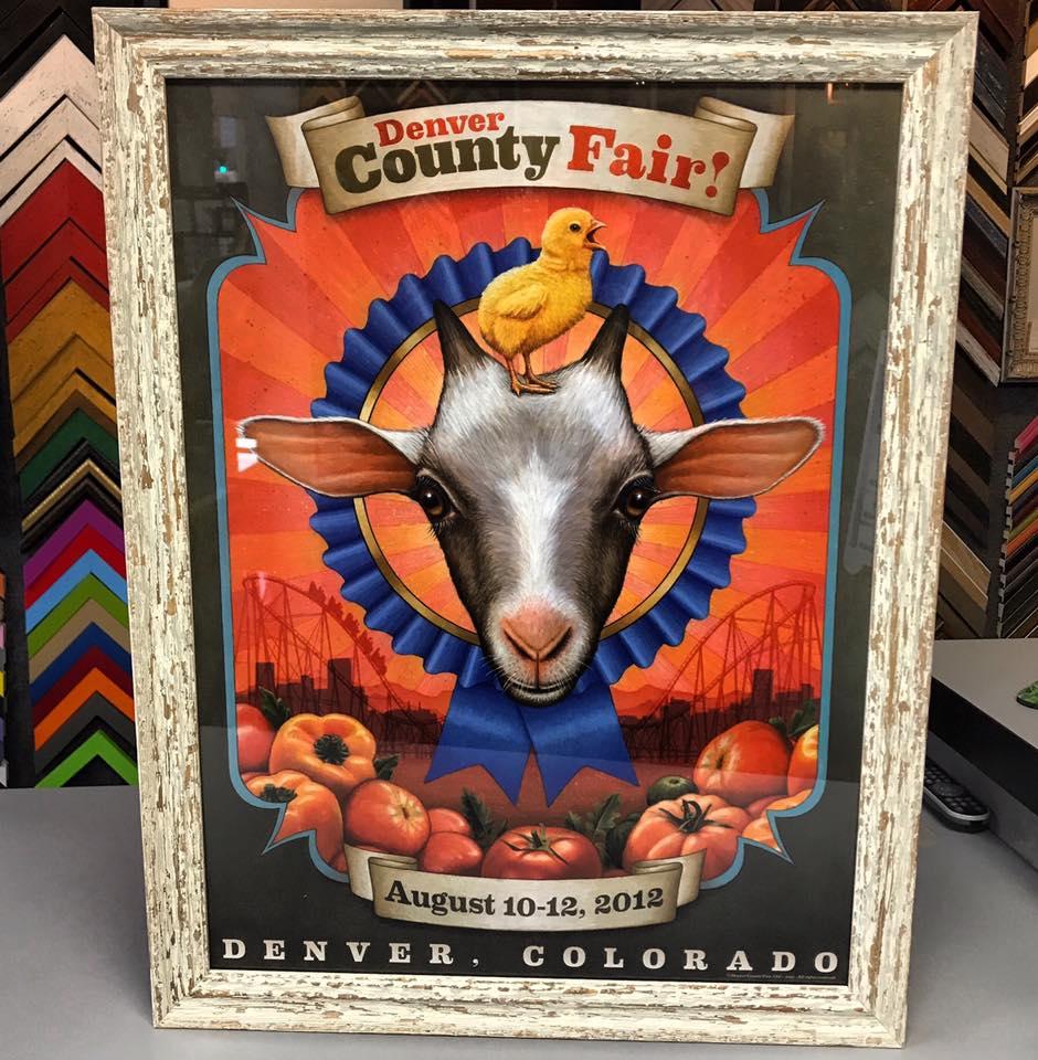 Denver County Fair Custom Framed Print