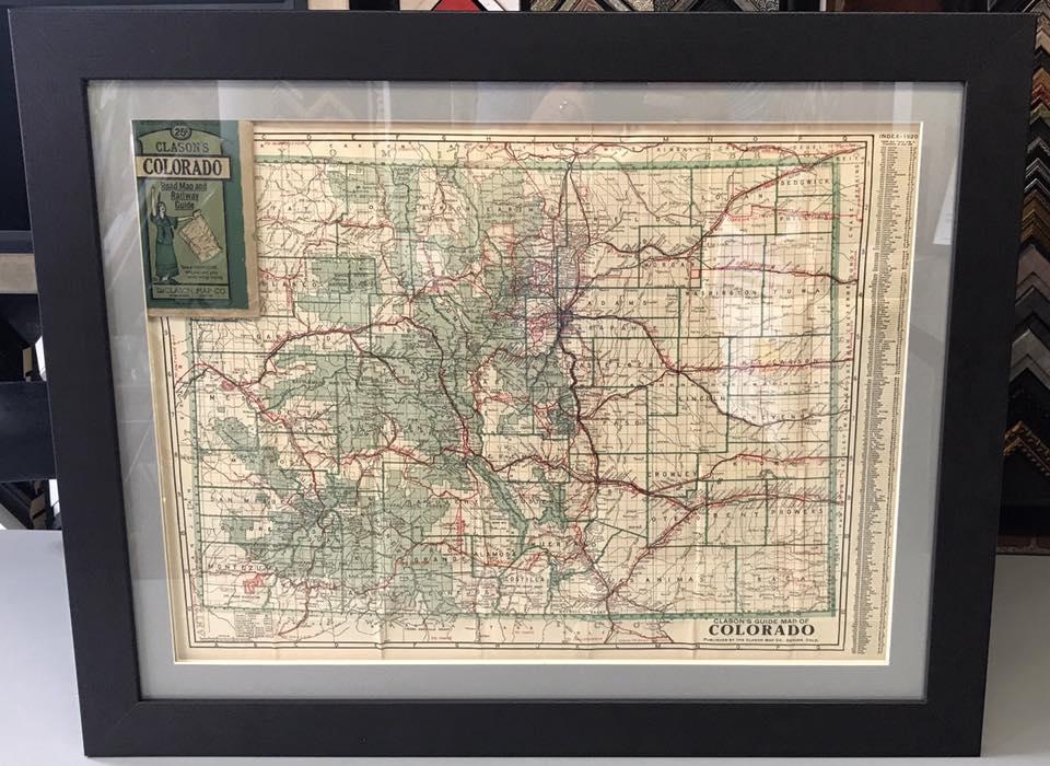 Custom Map Framing Denver