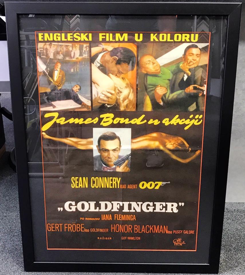 James Bond Framed Movie Poster