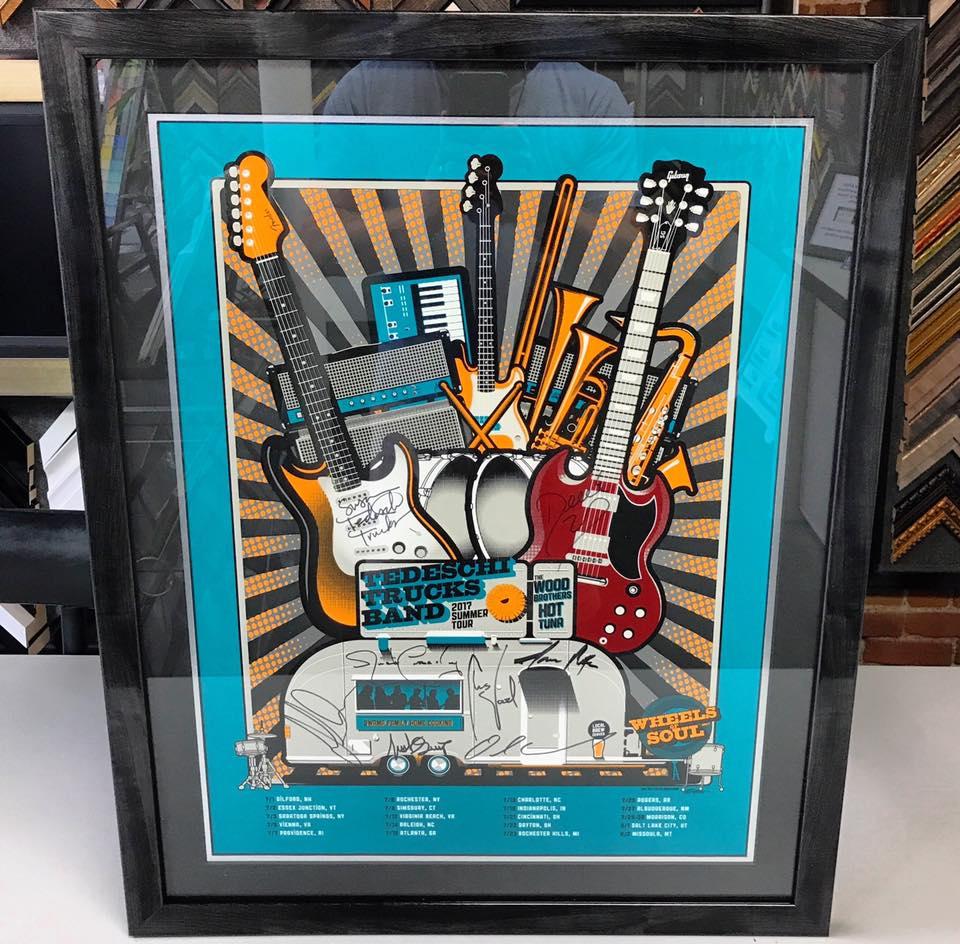 Concert Poster Framing Denver