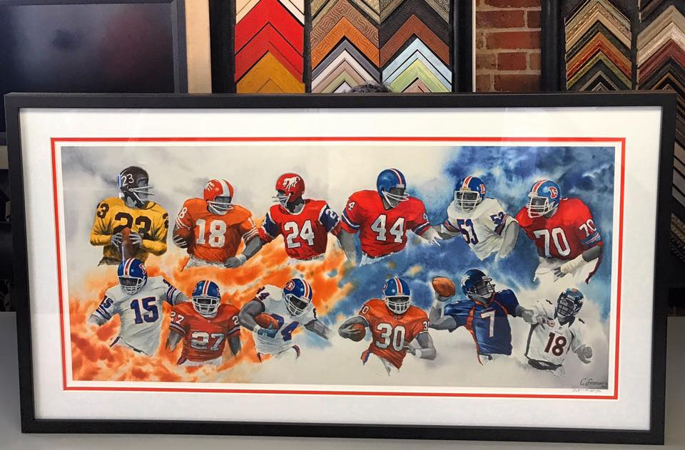 Sports Framing Denver Broncos