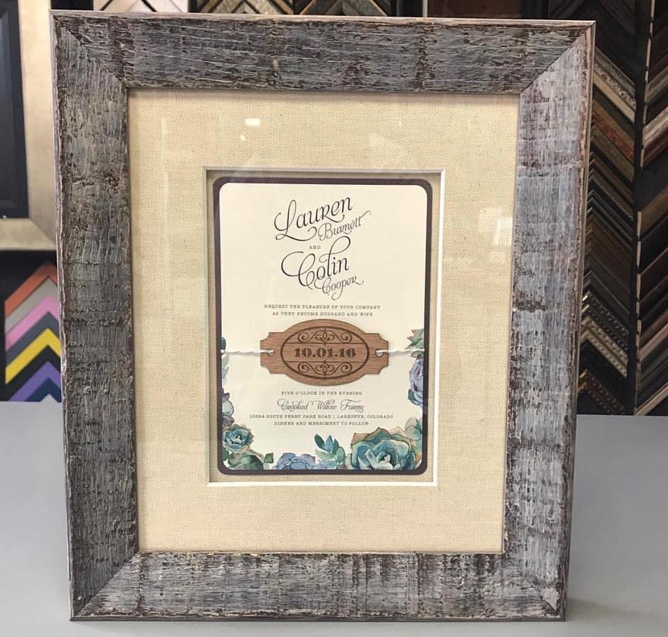 Custom Framed Wedding Invitations | FastFrame of LoDo - Expert ...
