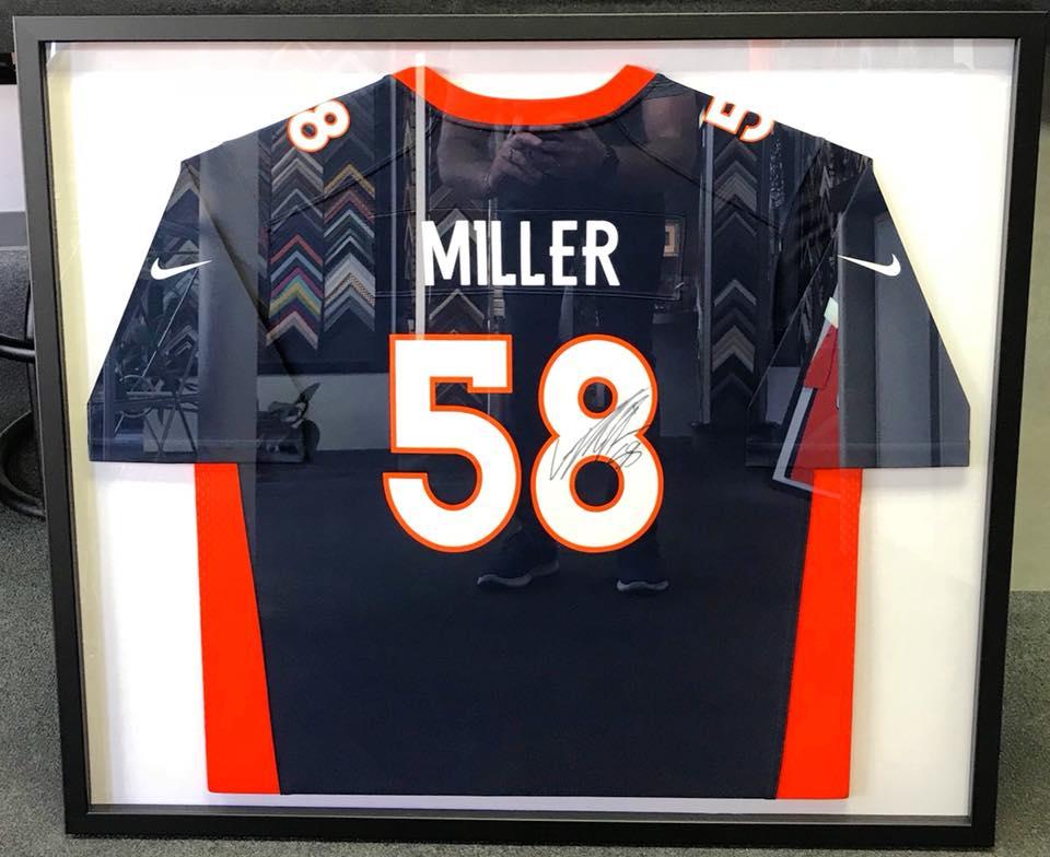 Sports Jersey Framing Denver