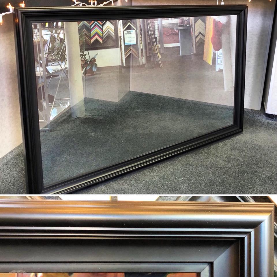 Flatscreen TV & Two-Way Mirror Framing
