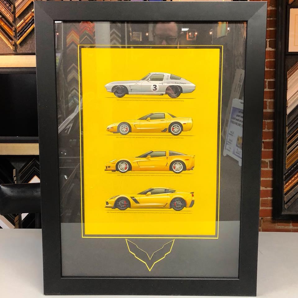 Custom Framed Corvette Print