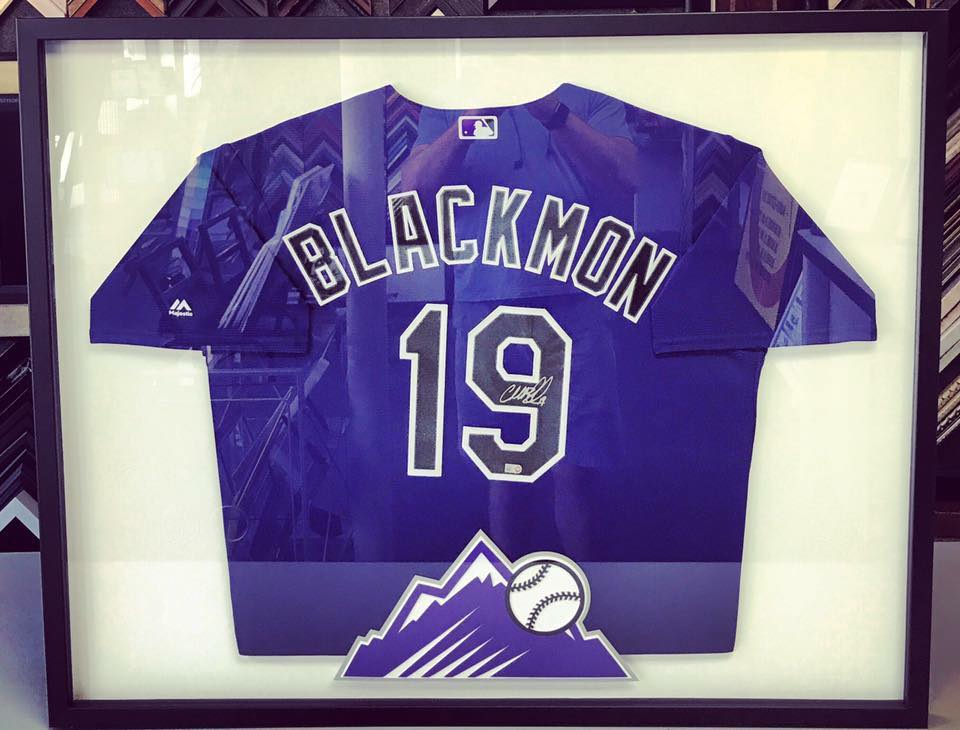 Charlie Blackmon Framed Jersey   Print ... 6e623b571