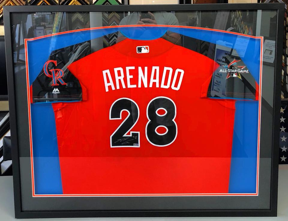 Fastframe of lodo expert picture framing sports jersey framing denver solutioingenieria Choice Image