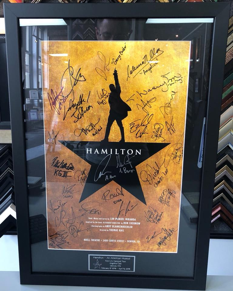 Hamilton Poster Framing Denver | FastFrame of LoDo - Expert Picture ...