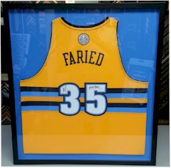 Frame a sports jersey at FastFrame of LoDo, Denver, CO